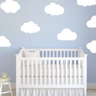 Large Clouds Pack of 8  Baby Nursery Wall sticker / decals